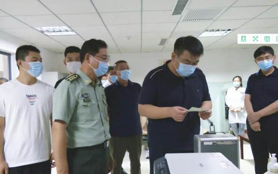 刘炎就征兵体检工作进行督导检查